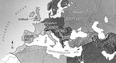 Map of the European Areas