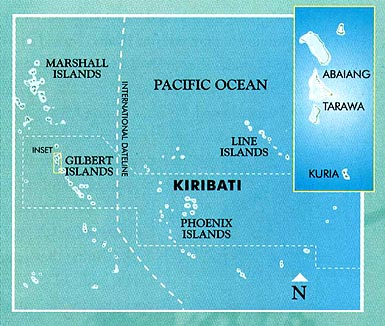 Map of Kiribati area