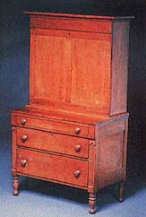 Cherry wood secretary made by Brigham Young
