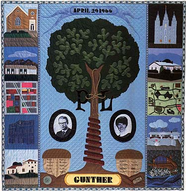 The Gunther family tree quilt