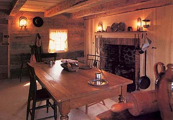 The Smith family often gathered near the fireplace