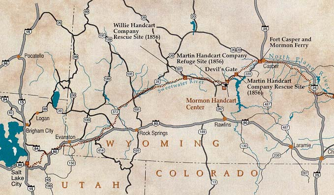 Map of the Mormon Trail