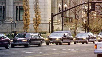 President Hunter's funeral cortege