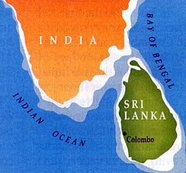 Map of Sri Lanka