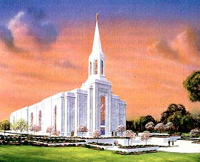 Architect's rendering of the St. Louis temple
