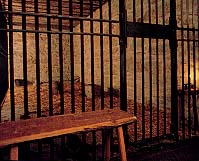 Jail cell where Elder Willard Richards dragged and hid the wounded Elder John Taylor