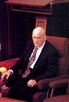 President Howard W. Hunter presided and spoke at the funeral