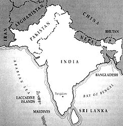 Boundaries of the new India Bangalore Mission are shown on above map.