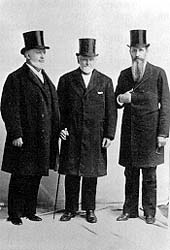 The First Presidency at the time of the dedication (from left): George Q. Cannon, Wilford Woodruff, and Joseph F. Smith. (Courtesy of LDS Church Archives.)
