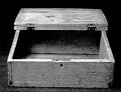 The wooden box in which Joseph hid the plates