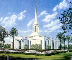 Architect's rendering of the Orlando Florida Temple
