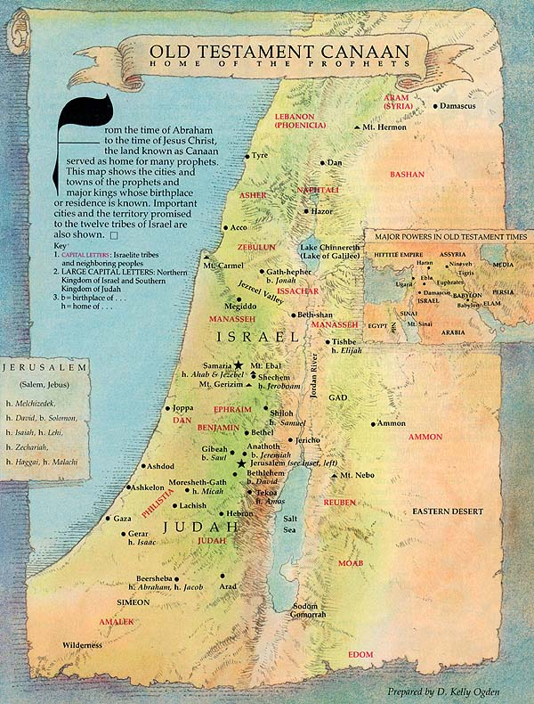 Map of Old Testament Canaan