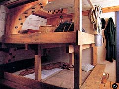 Bunks designed for a pioneer family