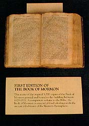 An original copy of the first edition of the Book of Mormon