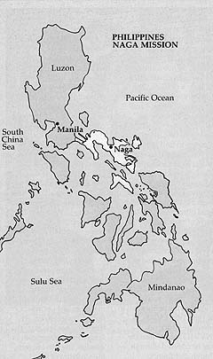 Map of Philippines Naga Mission