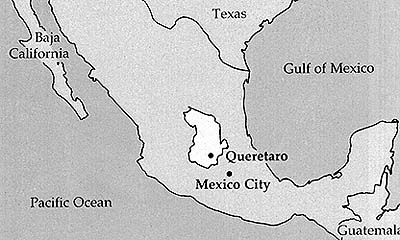 Map of Mexico Queretaro Mission