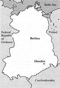 Map of German Democratic Republic Dresden Mission