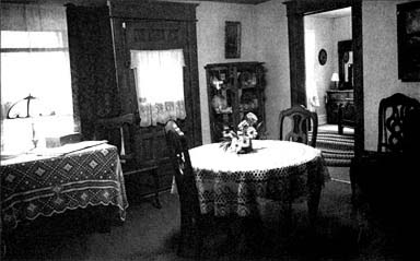 The dining room of the farm home