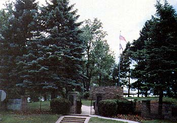 Main entrance to Mormon Pioneer Cemetery