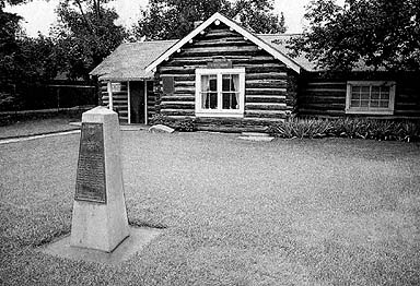 The log home of pioneer colonizer Charles O. Card