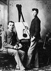 Herman Haag with his older brother Richard, in 1887