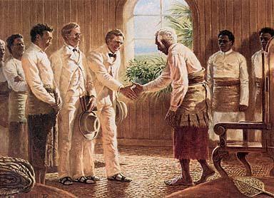 Meeting the King of Tonga