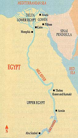 The Nile River valley