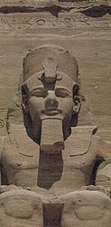 Four colossal statues of the Pharaoh