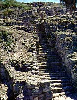 steps built after Solomon's time to accommodate the Megiddo foot traffic