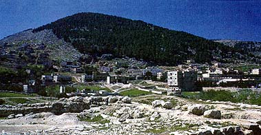 Sychar of Samaria and Mount Gerizim