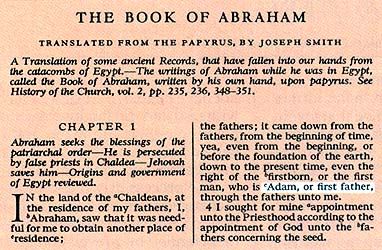 Selection from the Book of Abraham