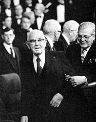 President Kimball and D. Arthur Haycock