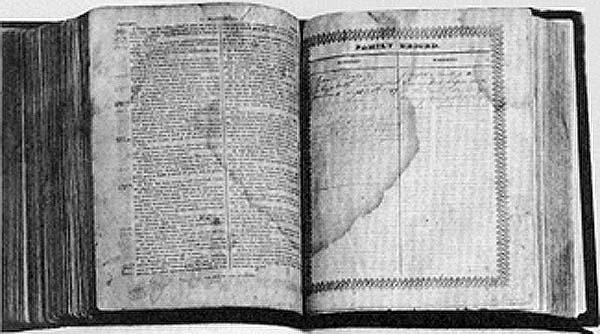 Joseph Smith Jr., family Bible