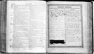 Hyrum Smith family Bible