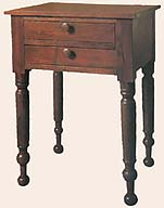 A nightstand from the Nauvoo Mansion House