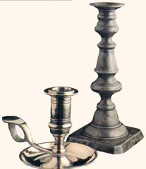 two candlesticks from Nauvoo Mansion House