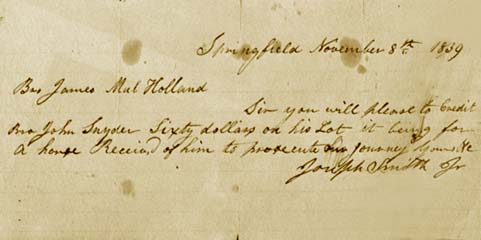 letter from Joseph Smith