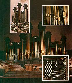 The Tabernacle organ, pipes, and console