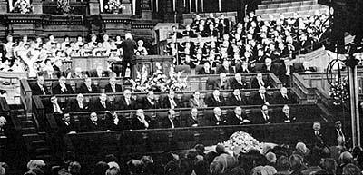 The funeral of Elder Mark E. Petersen