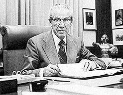 President Tanner at his desk