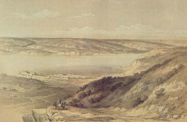 The Sea of Galilee, Looking toward the Gadarene Coast