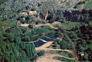 Banias Springs from the Air