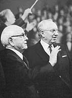 President Spencer W. Kimball and Second Counselor President Gordon B. Hinckley
