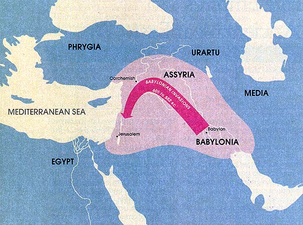 Map of the Babylonian Empire (605–539 B.C.