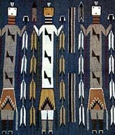 A Yei rug by Navajo weaver Ora Jim
