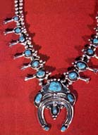 Squash Blossom necklace by Ramona Nez