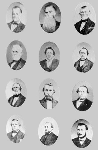Portraits of members of the Quorum of the Twelve, late 1867 or 1868