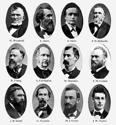 The Quorum of the Twelve, 1884