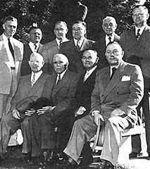 Ten members of the Quorum of the Twelve, 4 October 1951