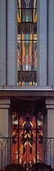 Multistory stained-glass window in the Tokyo Temple